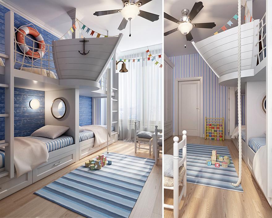 15. Капитанска корабна вахта над спалня